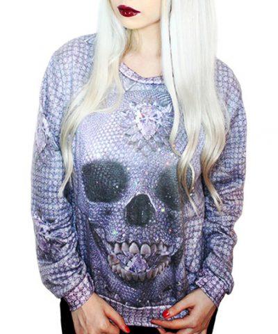 Crystal-Skull-Pullover