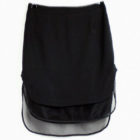 Double layered skirt-fashion-new-mid-long-skirt-sexy-punk-style-black-Transparent-g-yarns-fake-two-layers-1