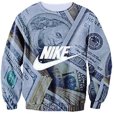 Nike dollar sweater