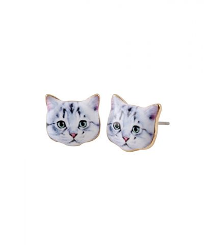 2016-New-Fashion-Cute-Animal-Earring-Little-White-Cat-Head-Stud-Earrings-for-Women-Girls-Party