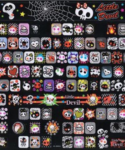 EMO Keyboard stickers Dark Kawaii skull