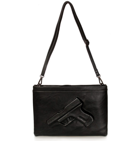 GUN CLUTCH -3D-Gun-bag-Fashion-Lady-Exquisite-Shoulder-Handbags-Portable-PU-Multible-Pockets-Guardian-Angel-1