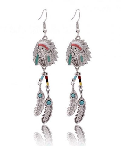 Indian silver indian earrings front