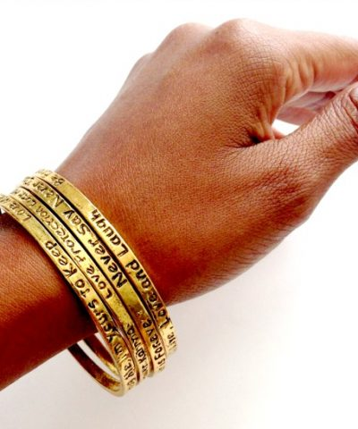 KARMA BANGLE vintagesayingbangle