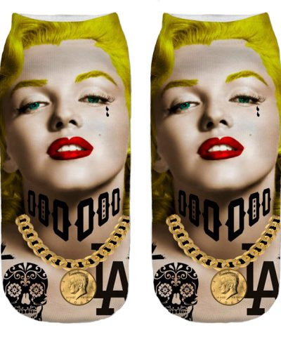 MARILYN tattoo socks