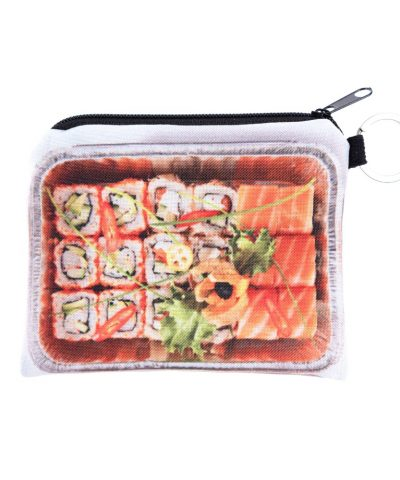 Sushi box coin purse full