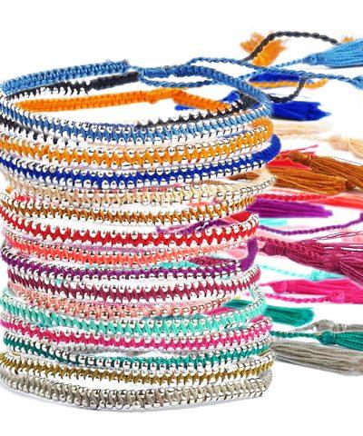 Tassel bracelets visual