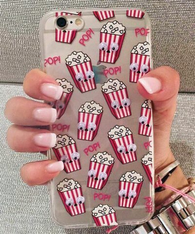 Funny-Cartoon-Mini-Eyes-Popcorn-Donuts-Case-Capa-Fundas-Carcasa-Coque-For-iPhone-5-5s-6