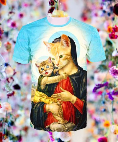 Holy Meow Tee flower