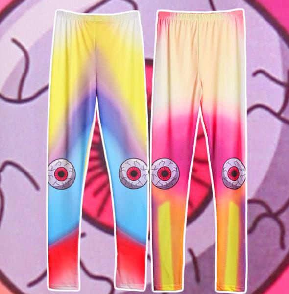 Free-Shipping-Harajuku-punk-unif-candystripp-teethteats-neon-gradient-eyeball-font-b-leggings-b-font-