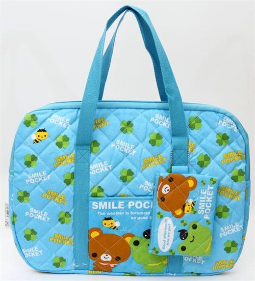 Q Lia Kawaii Bag Cute Bear With Cloverleaves