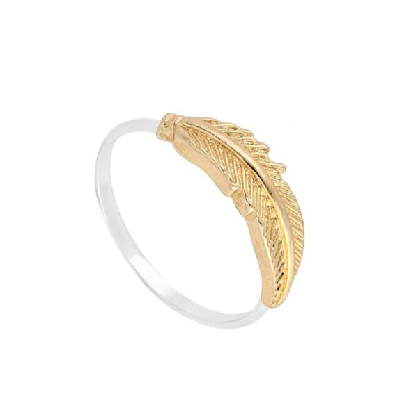 Gold feather ring