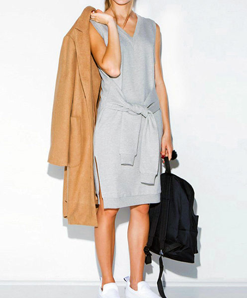 KNOTTED SWEATER DRESS VISUAL