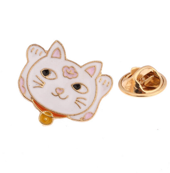 X025-Free-shipping-Dedicate-Planet-Cloud-Fortune-Cat-Brooch-Pins-Fashion-Jewelry-Wholesale