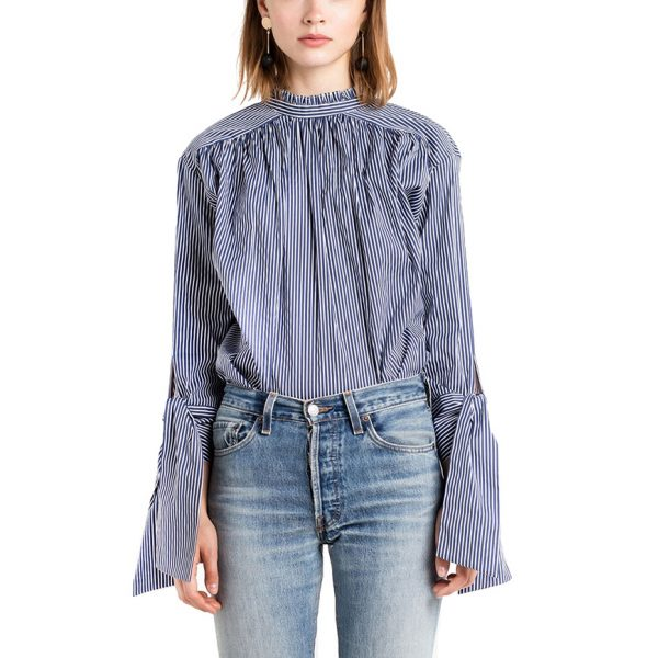 HDY-Haoduoyi-Sweet-Casual-Chic-Women-Tops-Sexy-Elegant-Back-Single-Breasted-Blouse-Autumn-Tie-Cuff