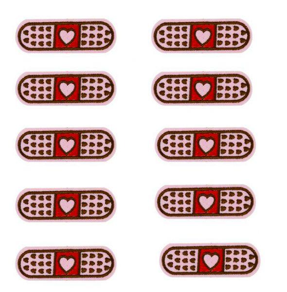 1 Pink Heart Band Aid