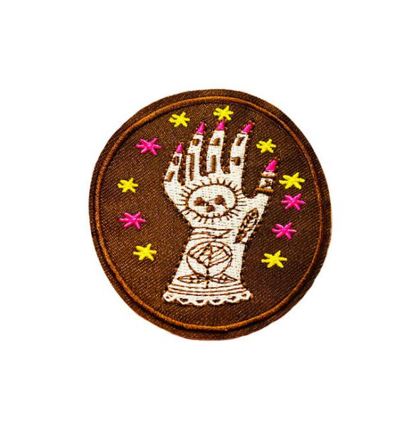 1 Tattoed Lady hand round patch
