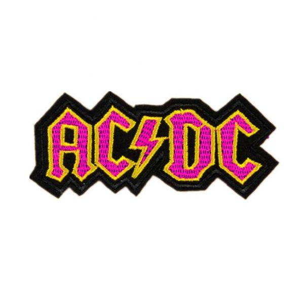 Pink AC DC patch