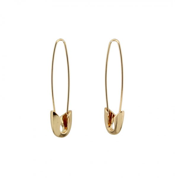 Safety earrings Gold