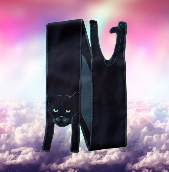 1Black Cat in clouds