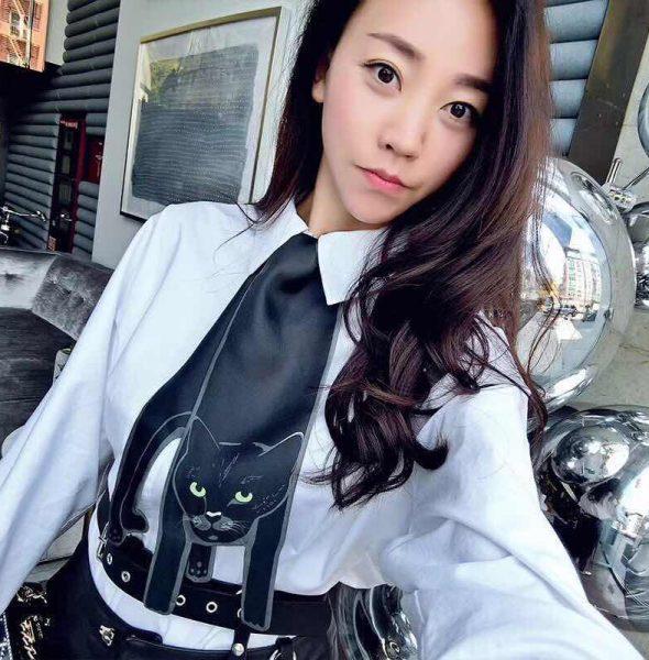 4 Black cat scarf B